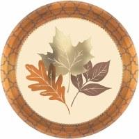 AMSCAN DINNER PLATES  COPPER LEAVES