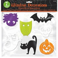 AMSCAN GEL WINDOW CLINGS HALLOWEEN