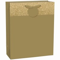 AMSCAN LG HOT STAMPED BAG GOLD