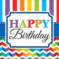 AMSCAN NAPKINS 16CT BRIGHT BIRTHDAY
