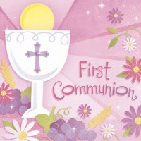 AMSCAN NAPKINS      COMMUNION
