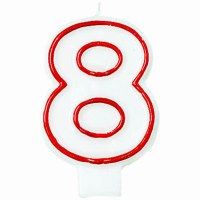 AMSCAN NUMERAL CANDLE 8