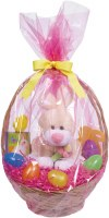 AMSCAN PINK EASTER  BASKET BAG