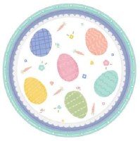 AMSCAN PRETTY PASTELS EASTER PLATES 7""