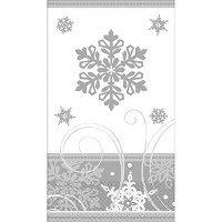 AMSCAN SPARKLING SNOWFLAKE GUEST TOWELS