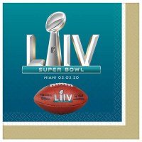 AMSCAN SUPER BOWL 54 LIV NAPKINS 16ct
