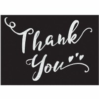 AMSCAN THANK YOU CARDS BLACK & WHITE