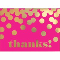 AMSCAN THANK YOU CARDS PINK & GOLD