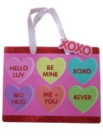 AMSCAN VALENTINE GIFTBAG CANDY HEARTS