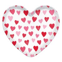AMSCAN VALENTINE HEART TRAY