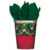 AMSCAN WARMTH OF XMAS CUPS 8CT