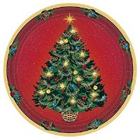 "AMSCAN WARMTH OF XMAS PLATES 7"" 8CT"