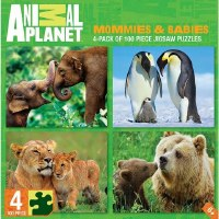 ANIMAL PLANET 4 PACK 100PC PUZZLES