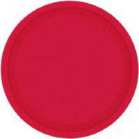 "APPLE RED PAPER PLATES 7"" 20CT"