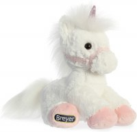 AURORA BREYER WHITE/PINK UNICORN PLUSH