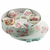 AYNSLEY BUTTERFLY GARDEN 6CT MUGS HATBOX