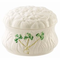 BELLEEK DAISY TRINKET BOX