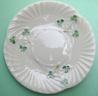 BELLEEK HARP SIDE   PLATE