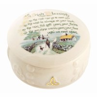 BELLEEK IRISH BLESSING BOX