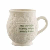 BELLEEK MUG MAY YOUR COFFEE BE STRONG
