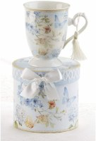 BLUE BUTTERFLY MUG IN HATBOX