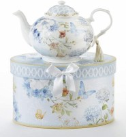 BLUE BUTTERFLY TEAPOT