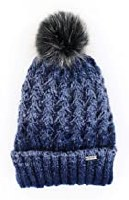 BLUE CHALET KNIT HAT W/POM POM