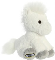 "BREYER 8"" PLUSH WHITE HORSE"