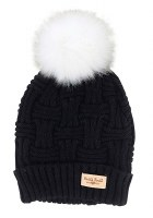 BRITT'S KNIT HAT W/POM POM BLACK