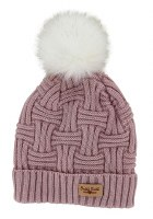 BRITT'S KNIT HAT W/POM POM BLUSH