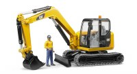 BRUDER CAT EXCAVATOR W/WORKER