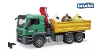 BRUDER MAN RECYCLING TRUCK W/CONTAINERS