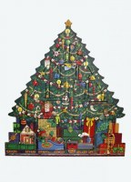 BYERS' CHOICE ADVENT CALENDER XMAS TREE