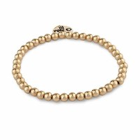 CHARM IT! 4mm GOLD BEAD STRETCH BRACELET