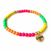 CHARM IT! 4mm NEON STRETCH BRACELET