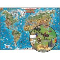 """CHILDREN'S WORLD MAP 54"""" x 38"""""""