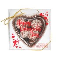 CHOCOLATE BOX W/VALENTINE NONPAREILS