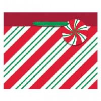 CHRISTMAS STRIPES SMALL GIFTBAG