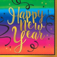 COLORFUL NEW YEAR LUNCH NAPKINS 36CT