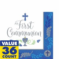 COMMUNION DAY BOV LUNCH NAPKINS 36ct