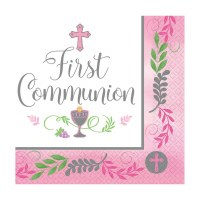 COMMUNION DAY GIRL LUNCH NAPKINS 36ct