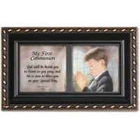 COTTAGE GARDEN MUSIC BOX COMMUNION BOY