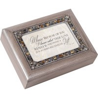 COTTAGE GARDEN MUSIC BOX MOM BECAUSE YOU