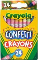 CRAYOLA 24ct CONFETTI CRAYONS