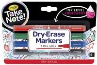 CRAYOLA 4ct FINE LINE DRY ERASE MARKERS