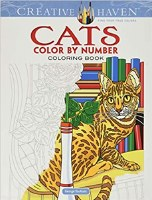 CREATIVE HAVEN CATS COLOR BY NUMBER BOOK