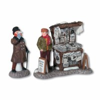 D56 DICKENS LONDON NEWSPAPER STAND