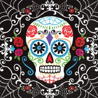DAY OF THE DEAD BEVERAGE NAPKINS 36ct