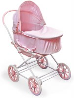 DOLL PRAM 3 IN 1 PINK GINGHAM