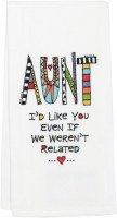EMBROIDERED TEA TOWEL AUNT